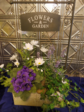 Flowers-Garden Sign Arrangement