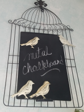 Birdcage Black Board