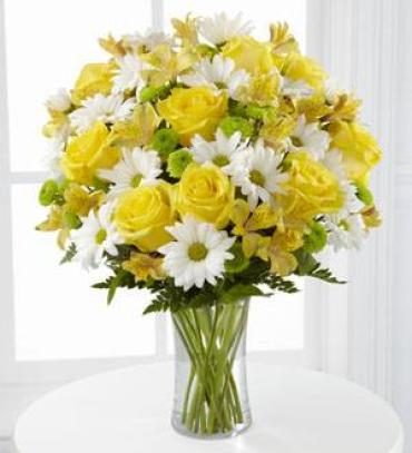 YELLOW ROSES AND DAISIES