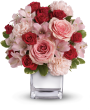 Teleflora\'s Love That Pink Bouquet with Roses