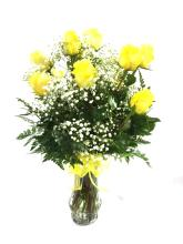dz. yellow roses
