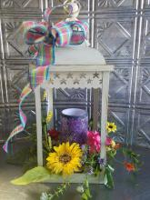 spring lantern with battery candle